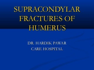 supracondylar fracture humerus in children