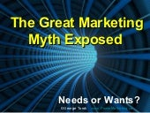 The Great Marketing Myth Exposed