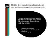 Myths & misunderstandings about the millennium development goals