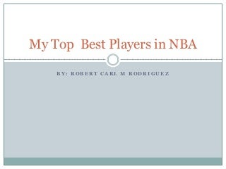 My top best players in nba