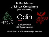 N problems of Linux Containers