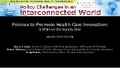 NABE Panel: Policies to Promote Health Care Innovation