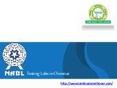 NABL Testing Labs in Chennai