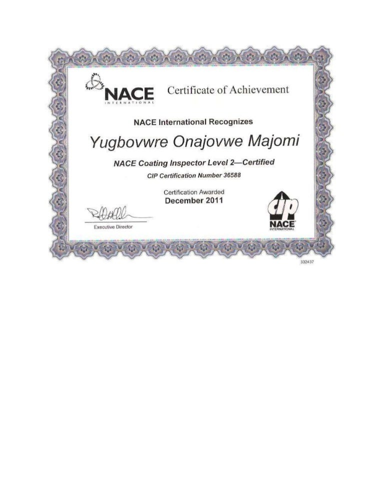 nace coating inspector certificate