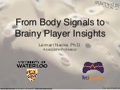 #GamesUR Conference: From Body Signals to Brainy Player Insights