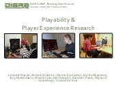 Playability & Player Experience Research