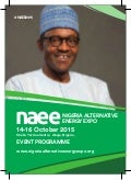 NAEE 2015 Event Programme