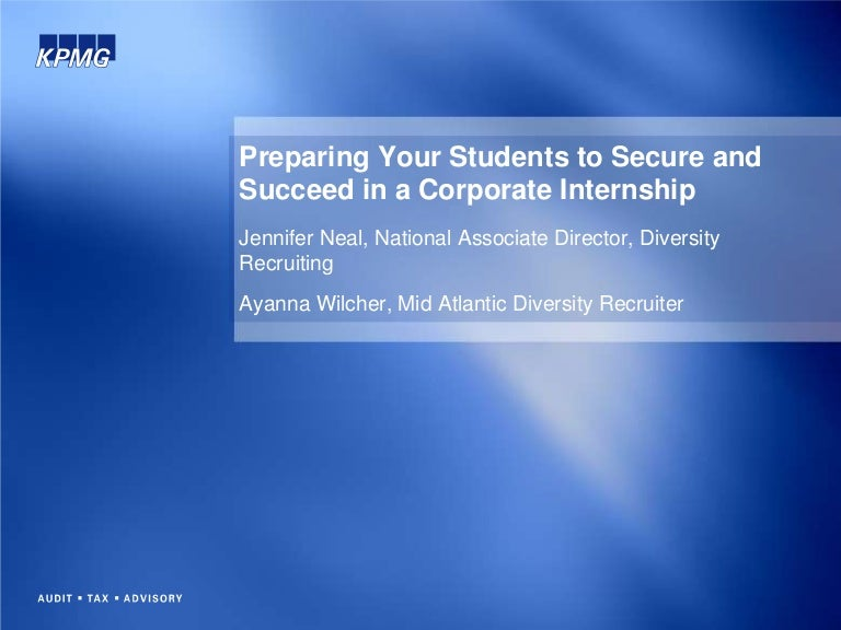 Preparing Your Students to Secure and Succeed in a Corporate Internsh…