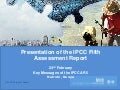 Presentation of the IPCC Fifth Assessment Report