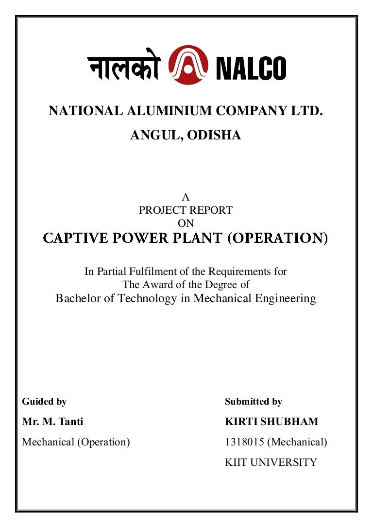 Nalco Training Captive Power Plant Flow Diagram