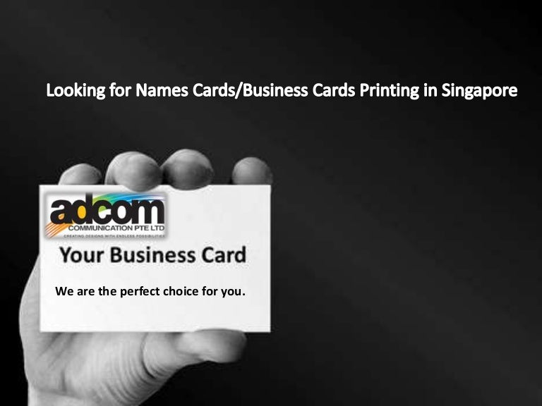 Name cards printing in singapore reheart Choice Image