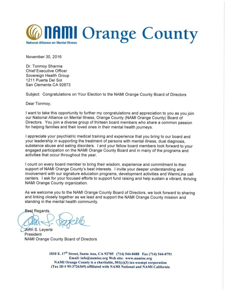 Example Letter Of Resignation From Board Of Directors