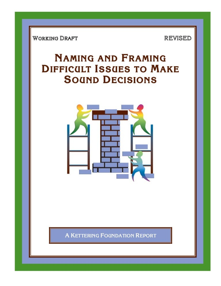 Naming And Framing Booklet