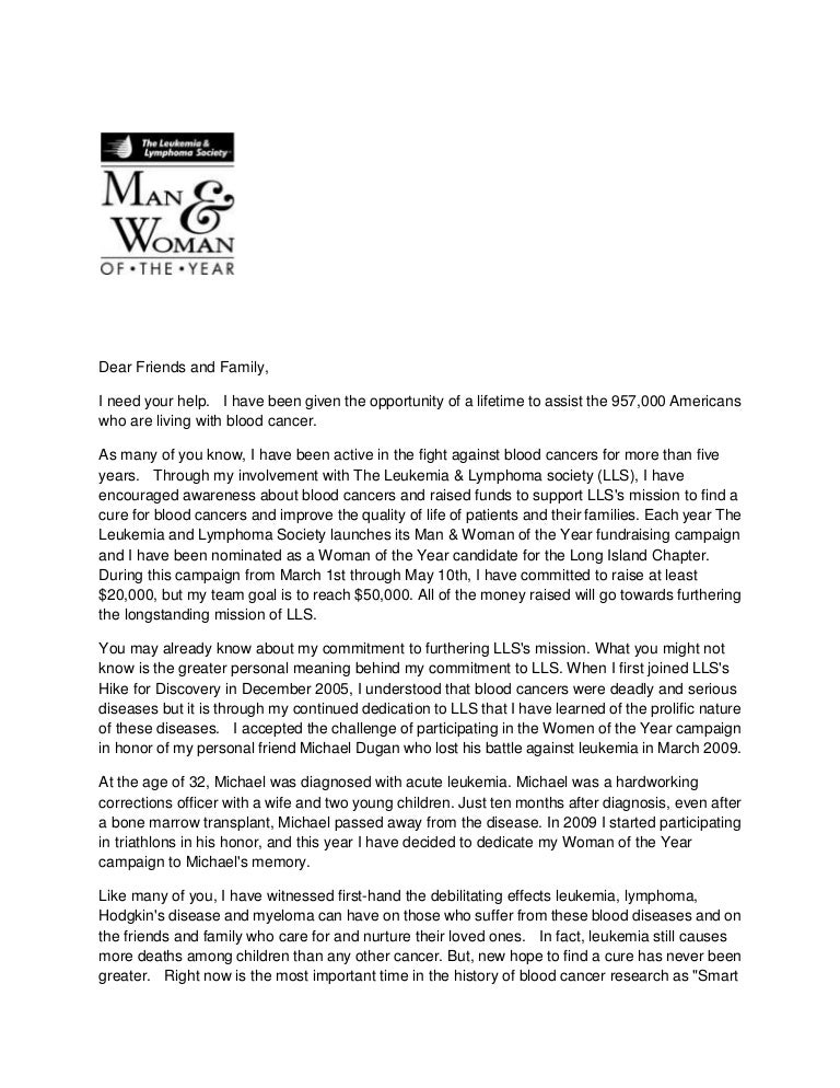 Nancy'S Fundraising Letter
