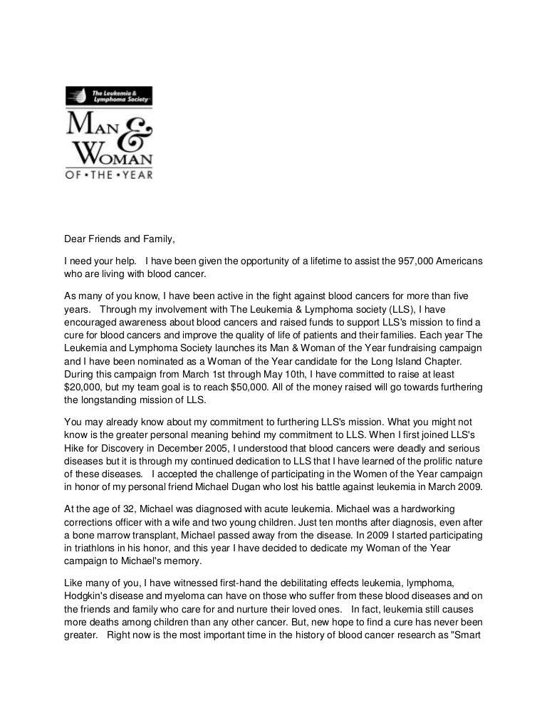NancyS Fundraising Letter