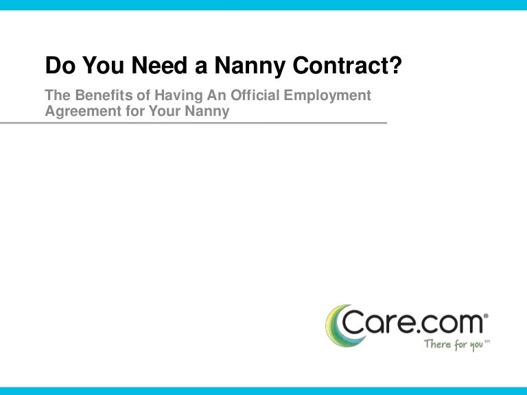 Stunning Nanny Agreement Contract Contemporary - Best Resume