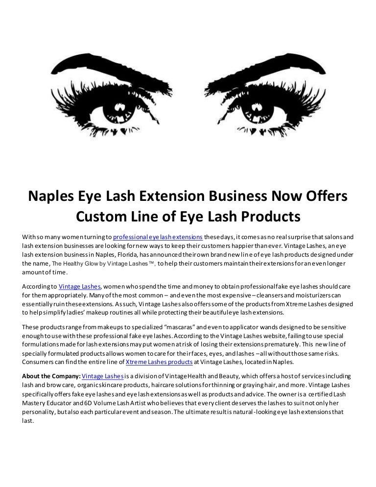 Naples Eye Lash Extension Business Now Offers Custom Line Of Eye Lash