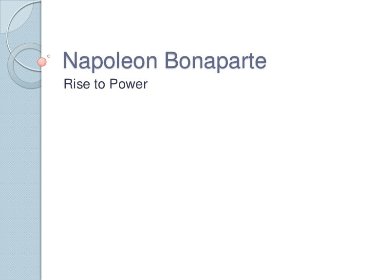napoleon bonaparte rise to power