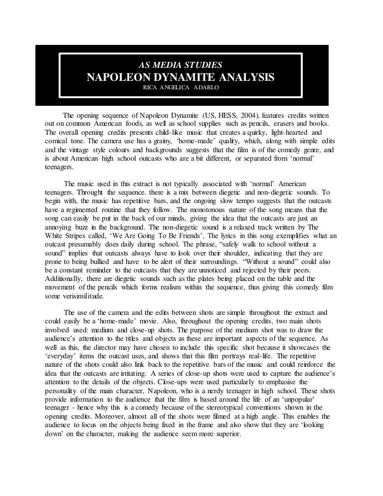 Napoleon dynamite essay