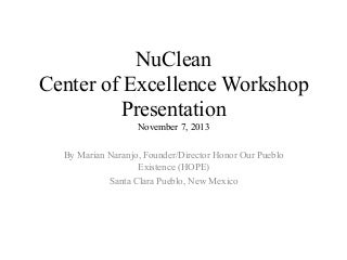 (NuClean) Marian Naranjo's Presentation