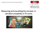 Narrative complexity of TV series