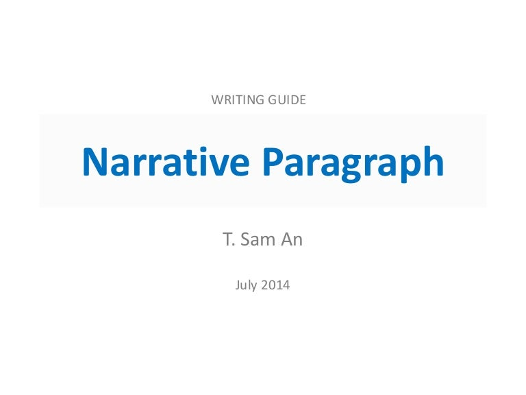sample of narrative paragraph