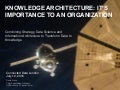 KNOWLEDGE ARCHITECTURE: IT'S IMPORTANCE TO AN ORGANIZATION