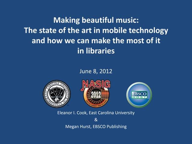Making Beautiful Music : Nasig 2012 final