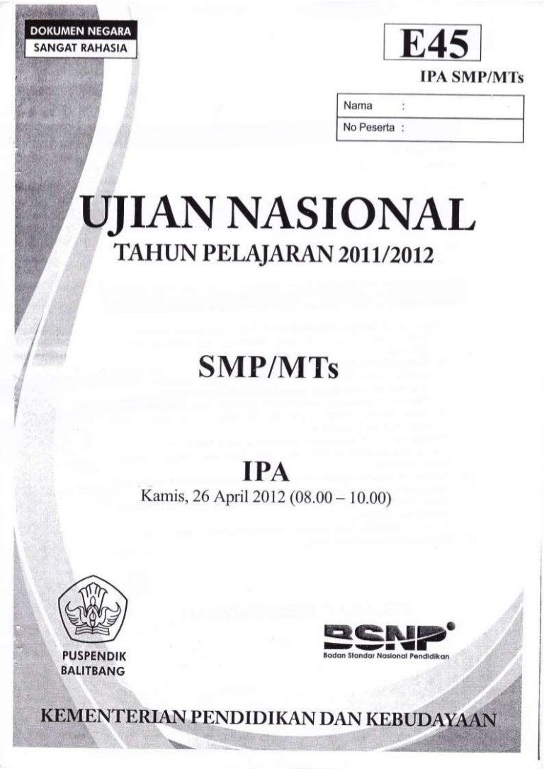 Bank soal un ipa smp - Bank Soal Un Ipa Smp 42