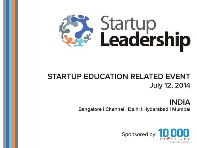 Startup Leadership Events with 10,000 Startups (NASSCOM)