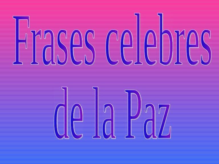 Frases De La Paz