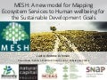 Mapping Ecosystem Services to Human well-being - MESH tool demo