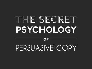 Nathalie Nahai - The secret psychology of persuasive copy (Conversion Conference)