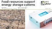 Fossil resources support energy storage systems