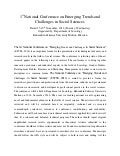 1st National conference on emerging trends and challenges in social sciences, B.Z.U Multan