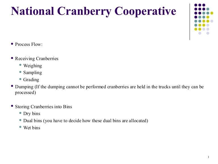 National cranberry case study