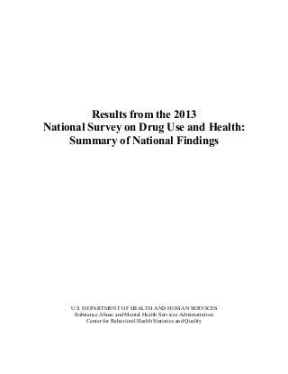 US National Drug Abuse Statistics Sept 4 2014