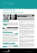 The RCC Corp: Improving The Revenue Cycle - William F. Zimmerman and Jessy Gene Huebner, The RCC Corp