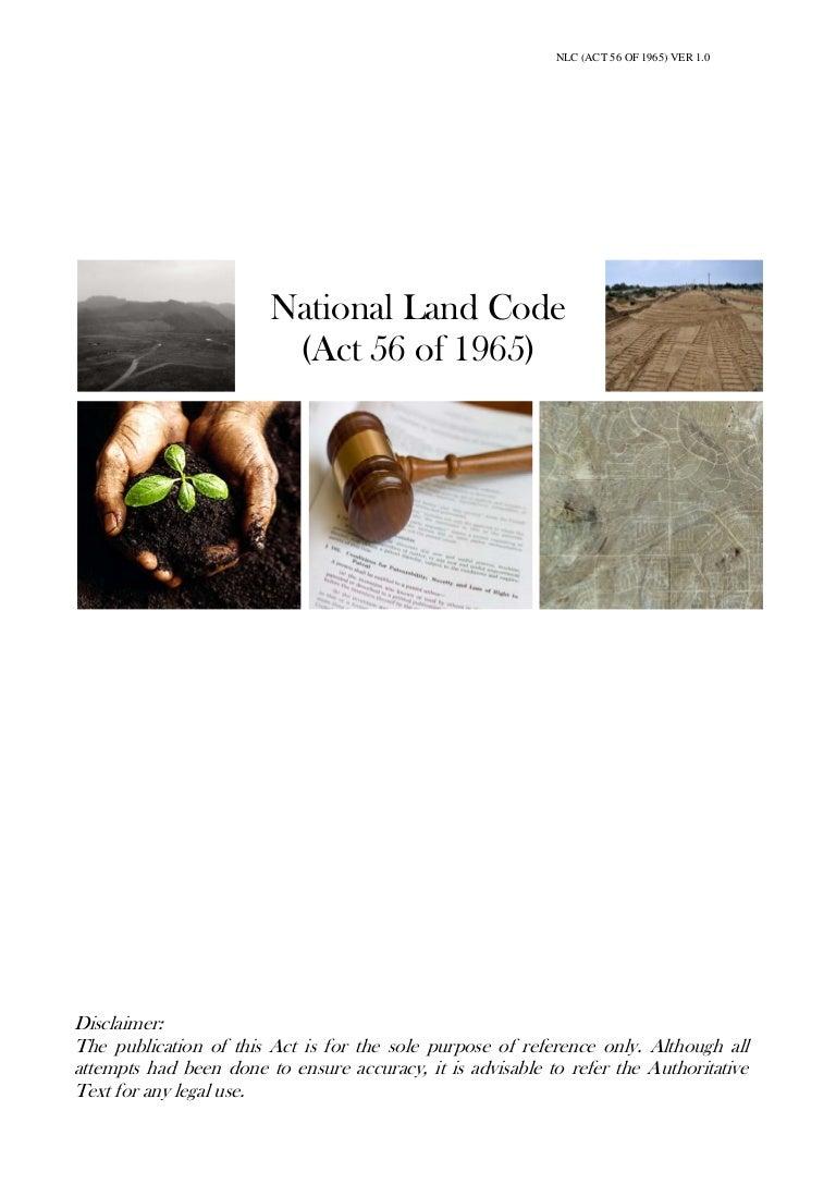 National Land Code 1965