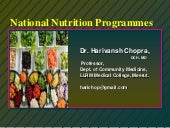 National nutrition programmes.