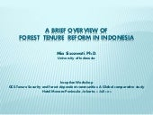 A brief overview of forest tenure reform in Indonesia