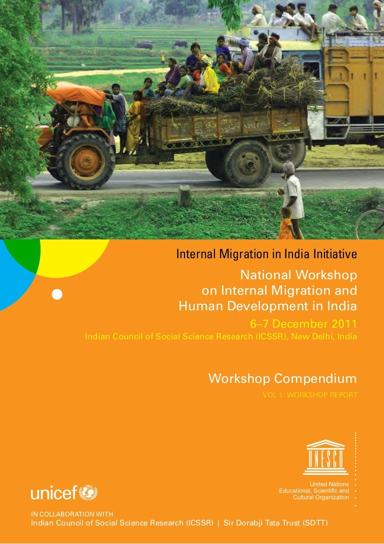 National Workshop on Internal Migration and Human Development in India Vol.1 - Workshop Report