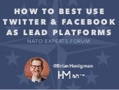 How to Use Twitter & Facebook as Lead Platforms