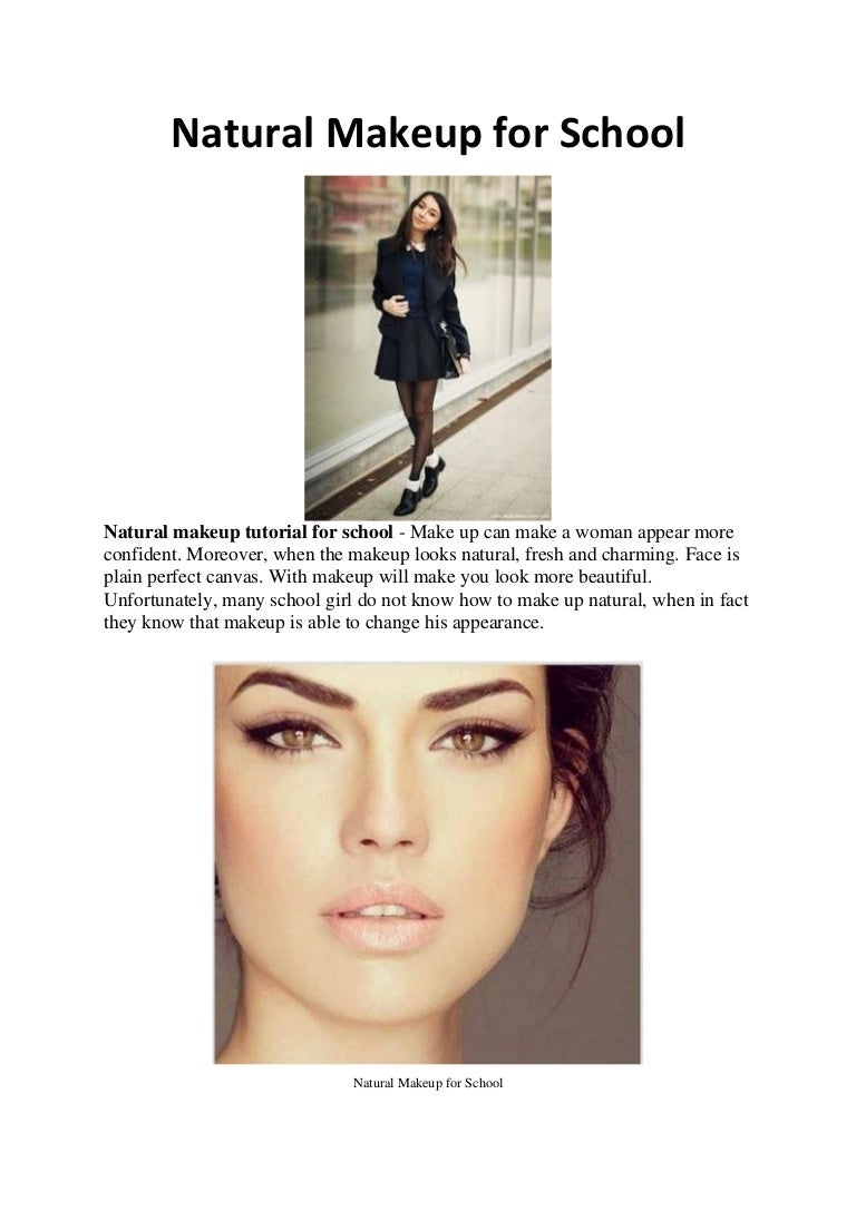 Natural makeup tips for school baditri Images
