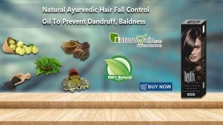 Natural Ayurvedic Hair Fall Control Oil to Prevent Dandruff, Baldness