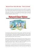 Natural Clear Vision Hoax