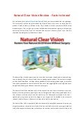 Natural Clear Vision Manual