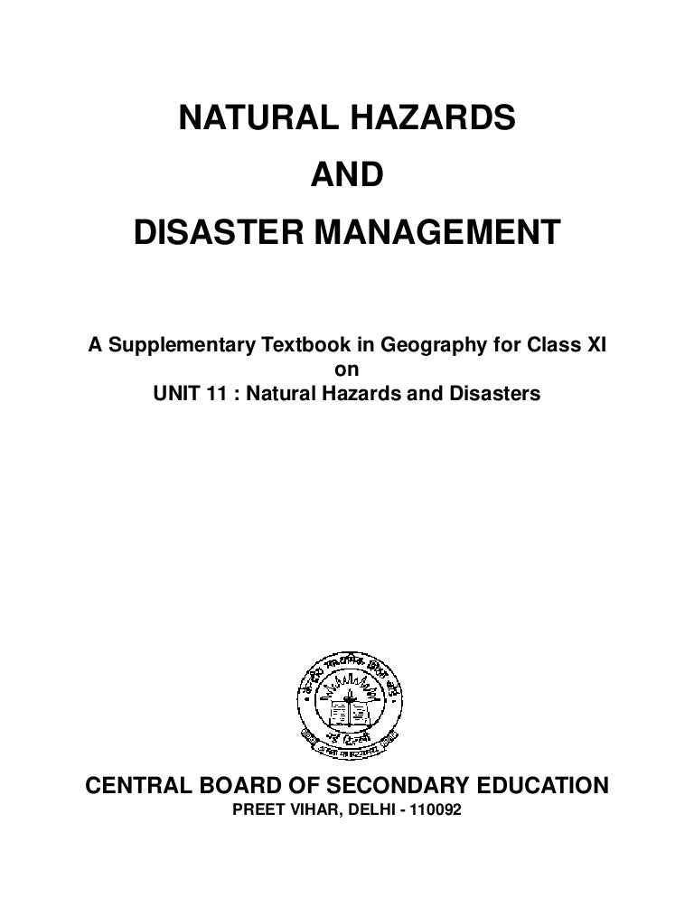 preface for school project on disaster management