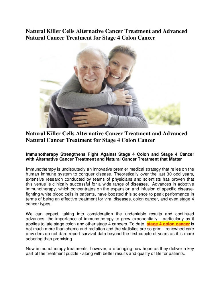 Natural Killer Cells Alternative Cancer Treatment And Advanced Natura