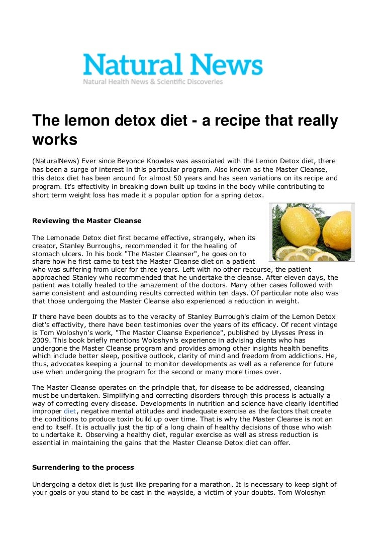 Master Cleanse The Lemon Detox Diet - ON Diets